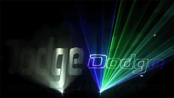 Vergleich Beamer Laser auf Lasergewebe
